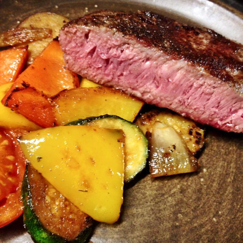 Jeden z našich steaků. Klikněte pro více originálních fotek!